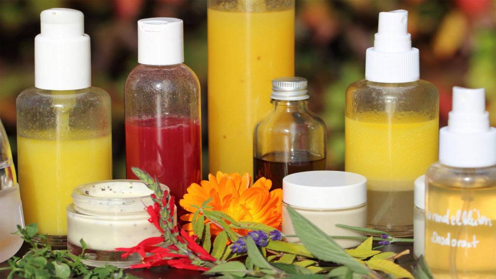 selbst hergestellte, essbare Hautpflegeprodukte
